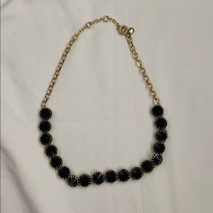 Jcrew Factory necklace with deep navy stones